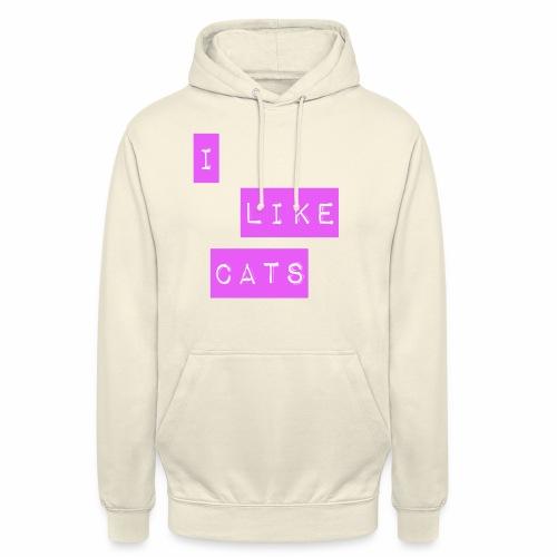 I like cats - Unisex Hoodie