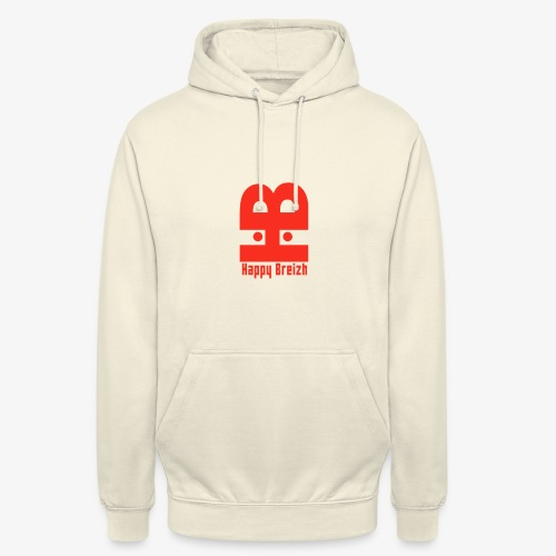 happy breizh logo - Sweat-shirt à capuche unisexe