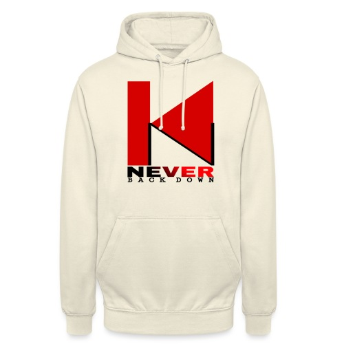 NEVER BACK DOWN - Sweat-shirt à capuche unisexe