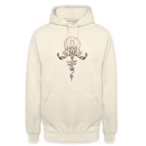 Lotus Unalome MaitriYoga - Sweat-shirt à capuche unisexe