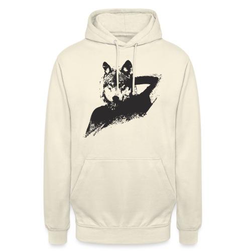 illustration zoom loup noir - Sweat-shirt à capuche unisexe