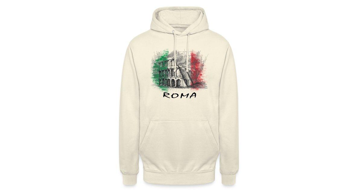 ROME ROM ROMA ITALY ITALIEN ITALIA - Felpa con cappuccio unisex | XXX-L
