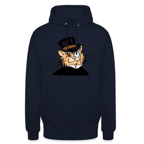 Gatto nonno - Felpa con cappuccio unisex