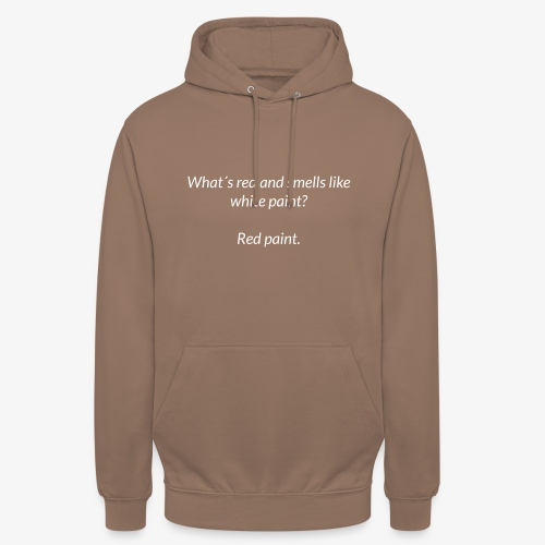Red and smells like white paint - Unisex Hoodie