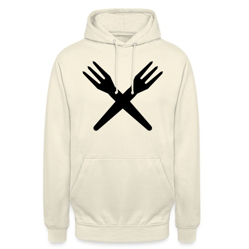 gekruiste frietvorken - trident - Sweat-shirt à capuche unisexe