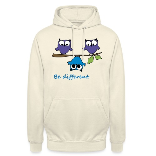 Vogel auf Ast - Be different - Unisex Hoodie