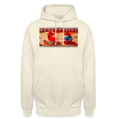 Dos Paisanitas tejiendo telar inca - Sweat-shirt à capuche unisexe