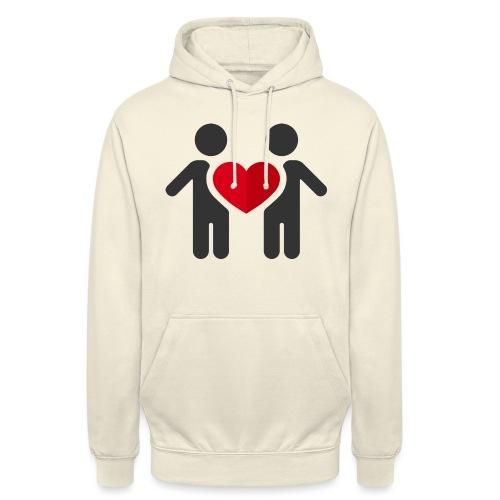 Chemise amour - Sweat-shirt à capuche unisexe