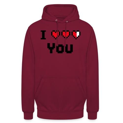 I pixelhearts you - Hoodie unisex