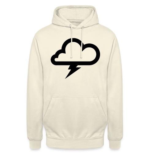 Wolke mit Blitz - Unisex Hoodie