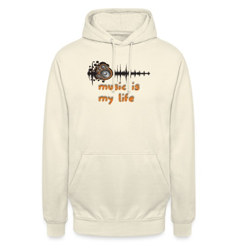 Music is my Life - Felpa con cappuccio unisex