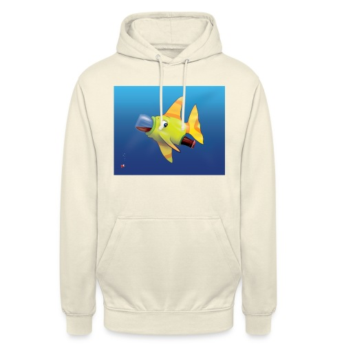 Greedy Fish - Sweat-shirt à capuche unisexe