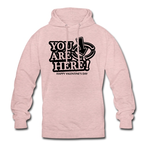 bbb youarehere love - Unisex Hoodie
