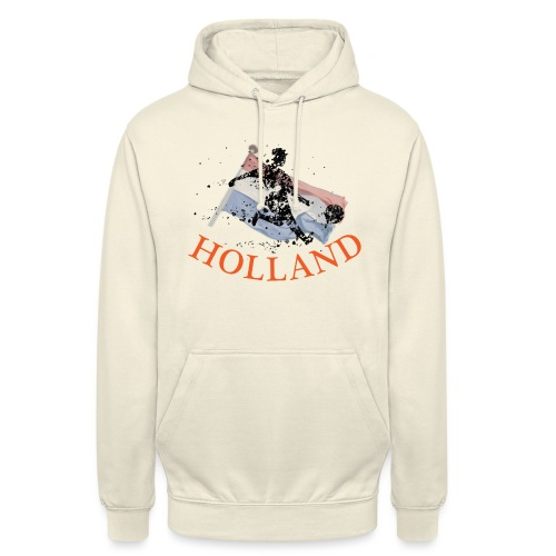 HOLLANDSE VLAG MET VOETBALLER in ACTIE - Hoodie unisex