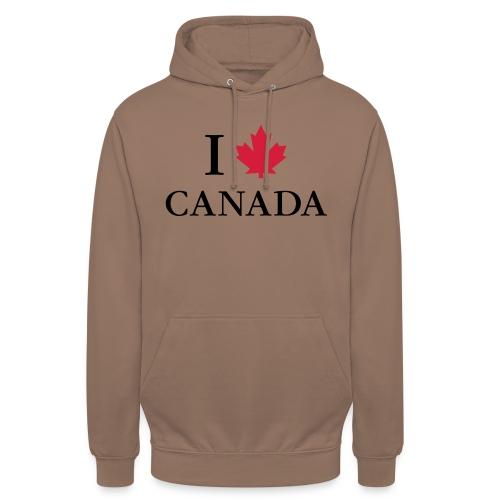 I love Canada Ahornblatt Kanada Vancouver Ottawa - Unisex Hoodie