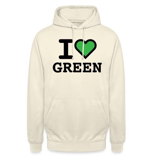 i-love-green-2.png - Felpa con cappuccio unisex