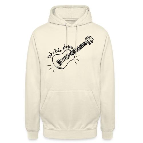 Ukulele player - Sweat-shirt à capuche unisexe