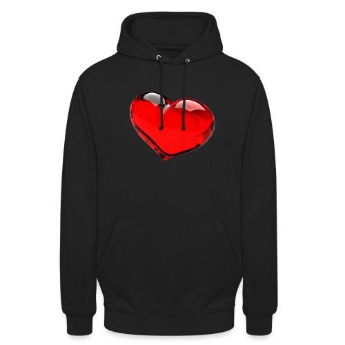 serce 3D - Bluza z kapturem typu unisex