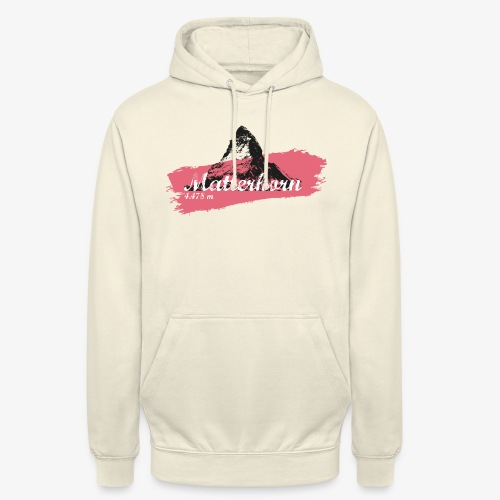 Matterhorn - Cervino - Color Coral - Unisex Hoodie