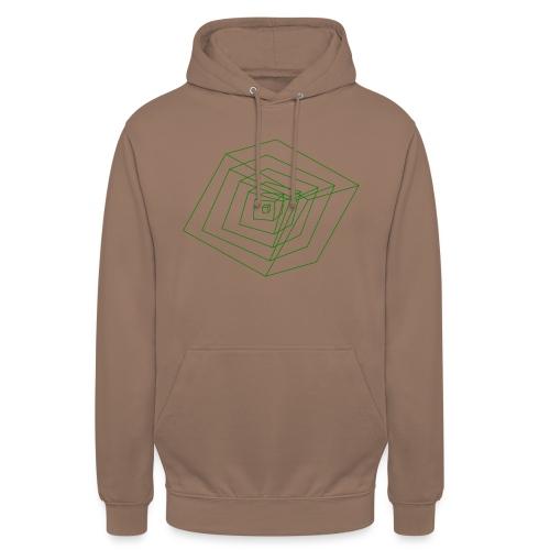 Cubes - Sweat-shirt à capuche unisexe
