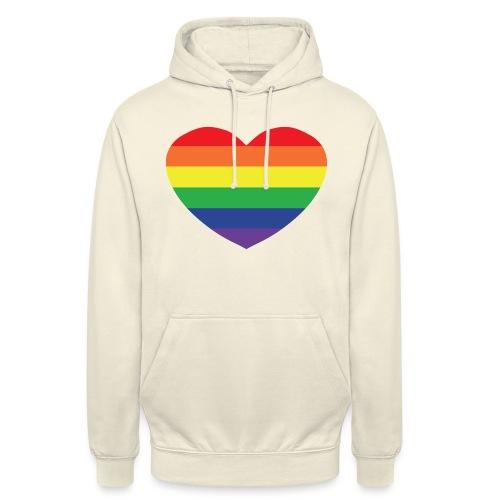 Rainbow heart - Unisex Hoodie
