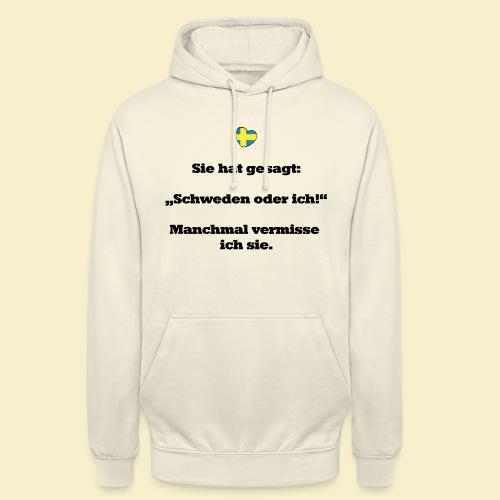 T-Shirt Schweden Herz schwarz für ihn - Unisex Hoodie