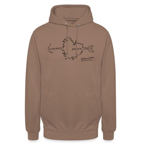 calligramme_fleche_saignante - Sweat-shirt à capuche unisexe