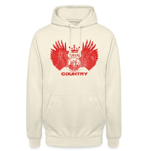 IH KING of the COUNTRY (Red design) - Hoodie unisex