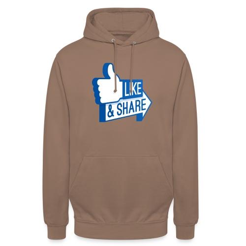 Like & Share (Facebook) - Felpa con cappuccio unisex