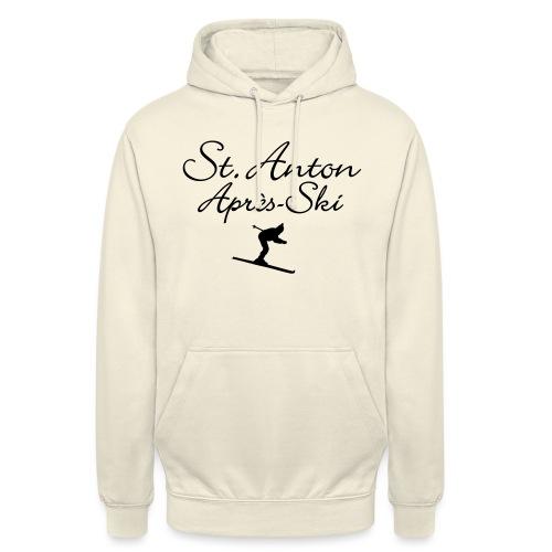 St. Anton Après-Ski Skifahrer - Unisex Hoodie