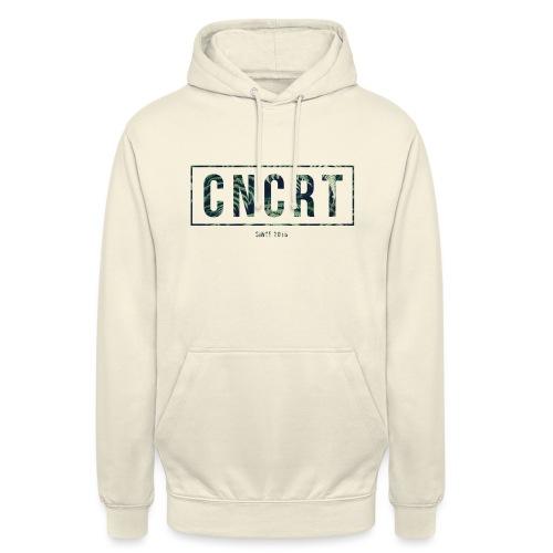 CNCRT white shirt (Plant Print) - Hoodie unisex