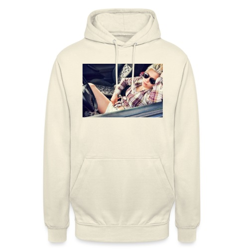 Cool woman in car - Unisex Hoodie