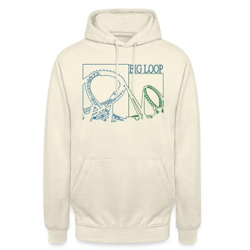 big_loop_coaster_shirt_line - Unisex Hoodie