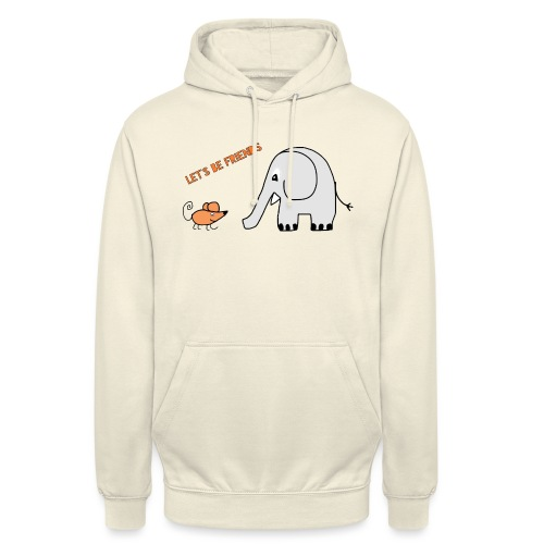 Elephant and mouse, friends - Unisex Hoodie
