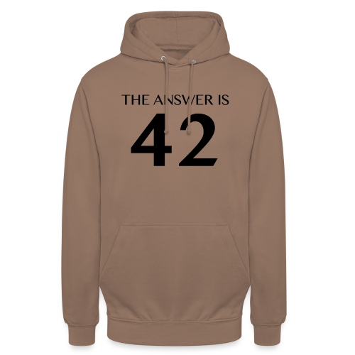 The Answer is 42 Black - Unisex Hoodie