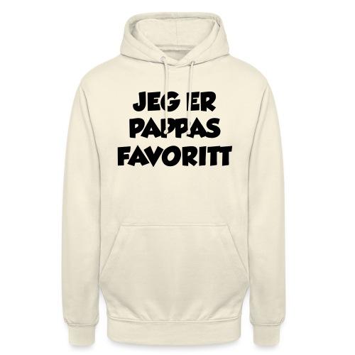 «Jeg er pappas favoritt» (fra Det norske plagg) - Unisex-hettegenser