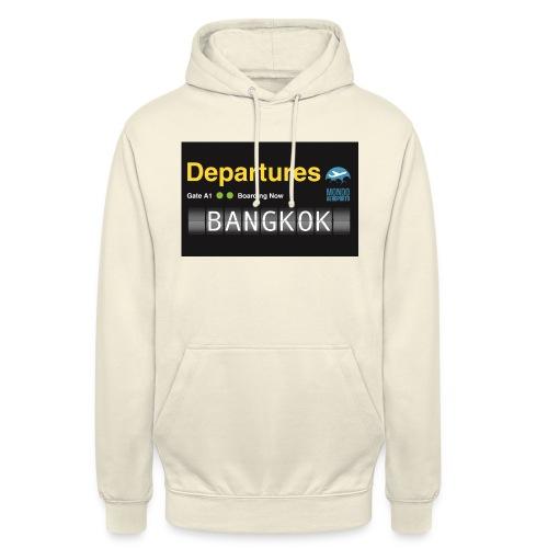 Departures BANGKOK jpg - Felpa con cappuccio unisex