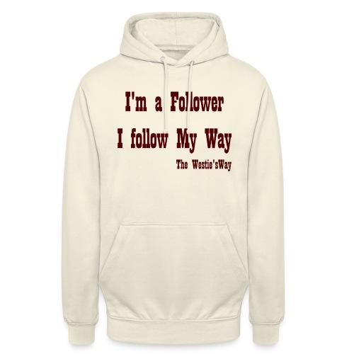 I follow My Way Brown - Bluza z kapturem typu unisex