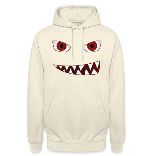 smiling devil emoticon grinning red demon - Unisex Hoodie