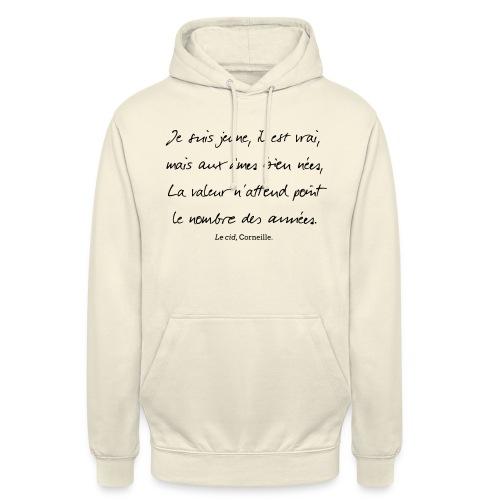 Le cid - Je suis jeune - Sweat-shirt à capuche unisexe