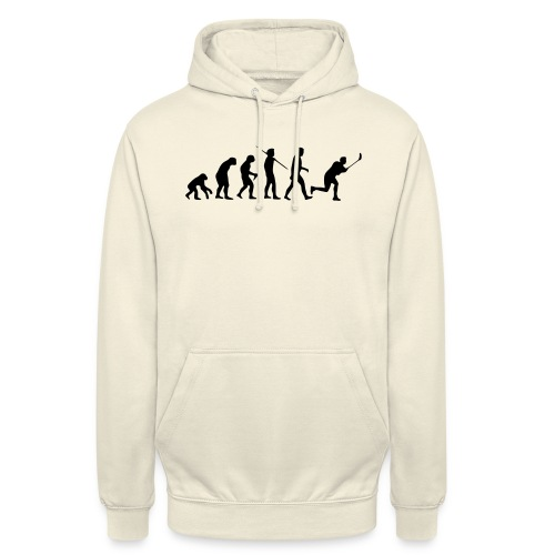 Floorball Evolution Black - Unisex Hoodie
