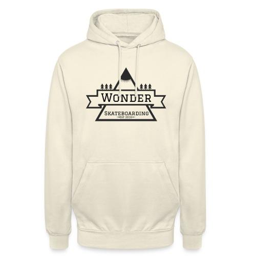 Wonder T-shirt: mountain logo - Hættetrøje unisex