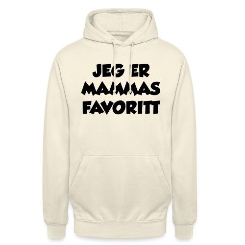 «Jeg er mammas favoritt» (fra Det norske plagg) - Unisex-hettegenser