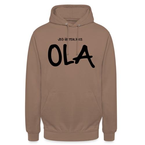 Jeg heter ikke Ola (fra Det norske plagg) - Unisex-hettegenser