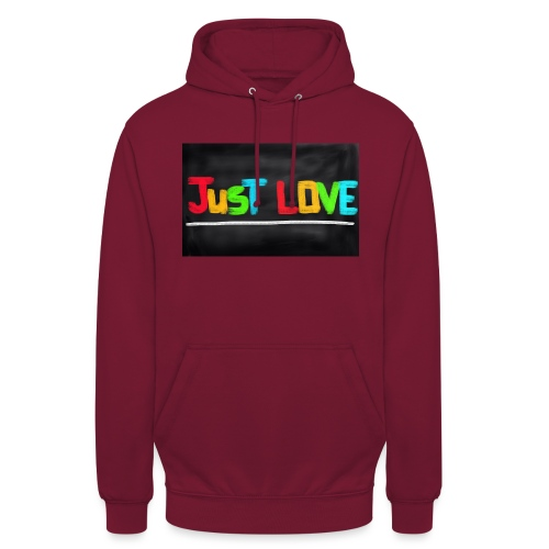 Just love tasse - Sweat-shirt à capuche unisexe