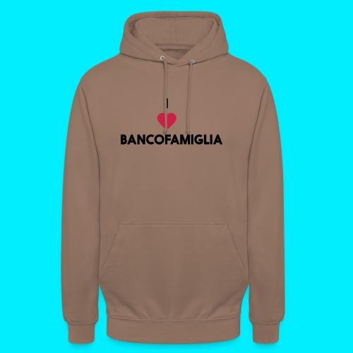 BANCOFAMIGLIA CuoreNera - Felpa con cappuccio unisex