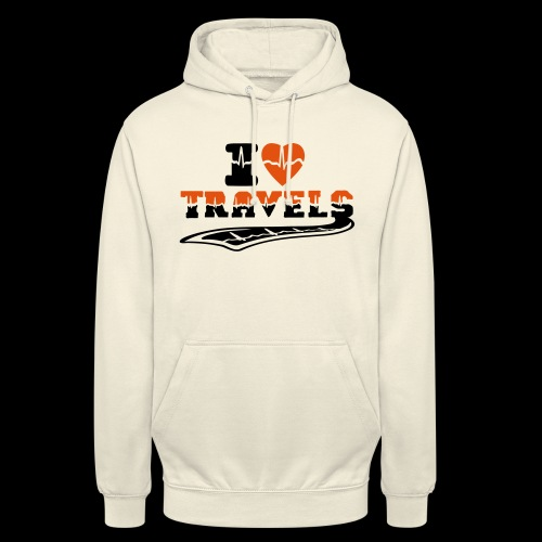 i love travels surprises 2 col - Unisex Hoodie