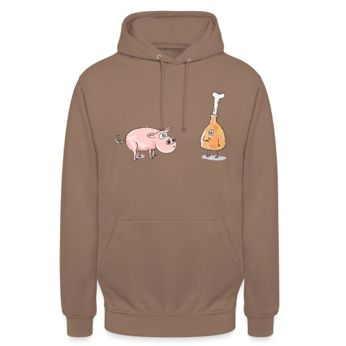 Le cochon et le jambon - Sweat-shirt à capuche unisexe