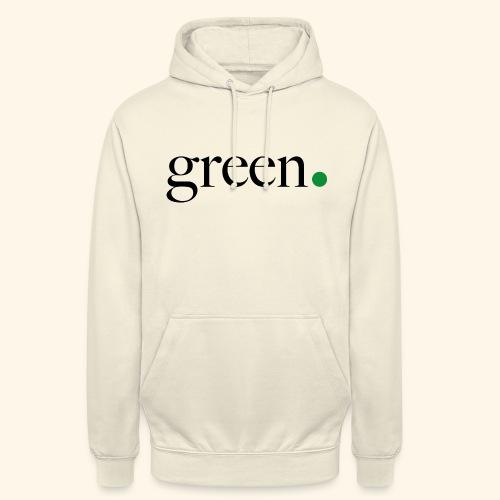 Green - Sweat-shirt à capuche unisexe