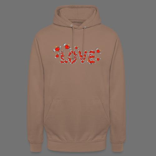 Latające miłości serc - Bluza z kapturem typu unisex